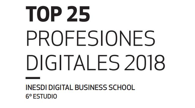 top profesiones digitales 2018 INESDI
