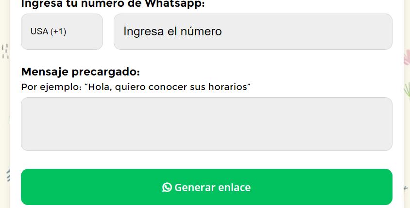 Como poner un link en instagram de whatsapp Social Gest