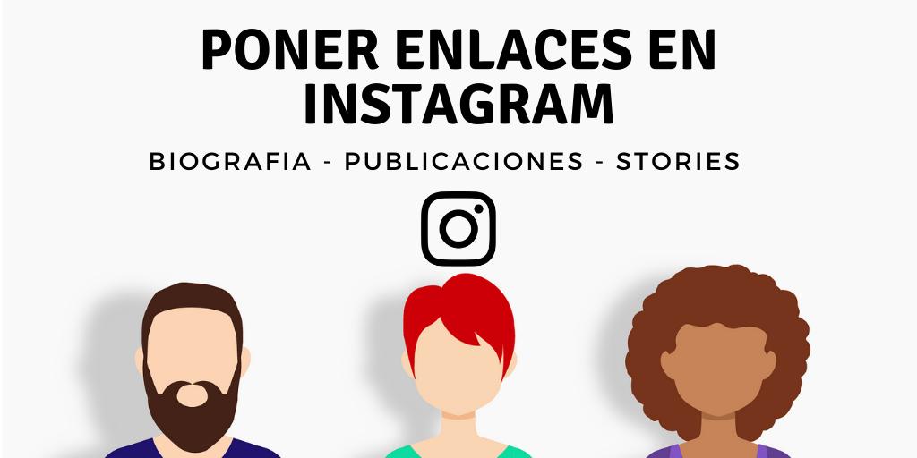 poner link en instagram